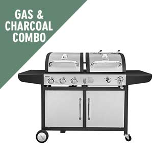 gas and charcoal combo grills
