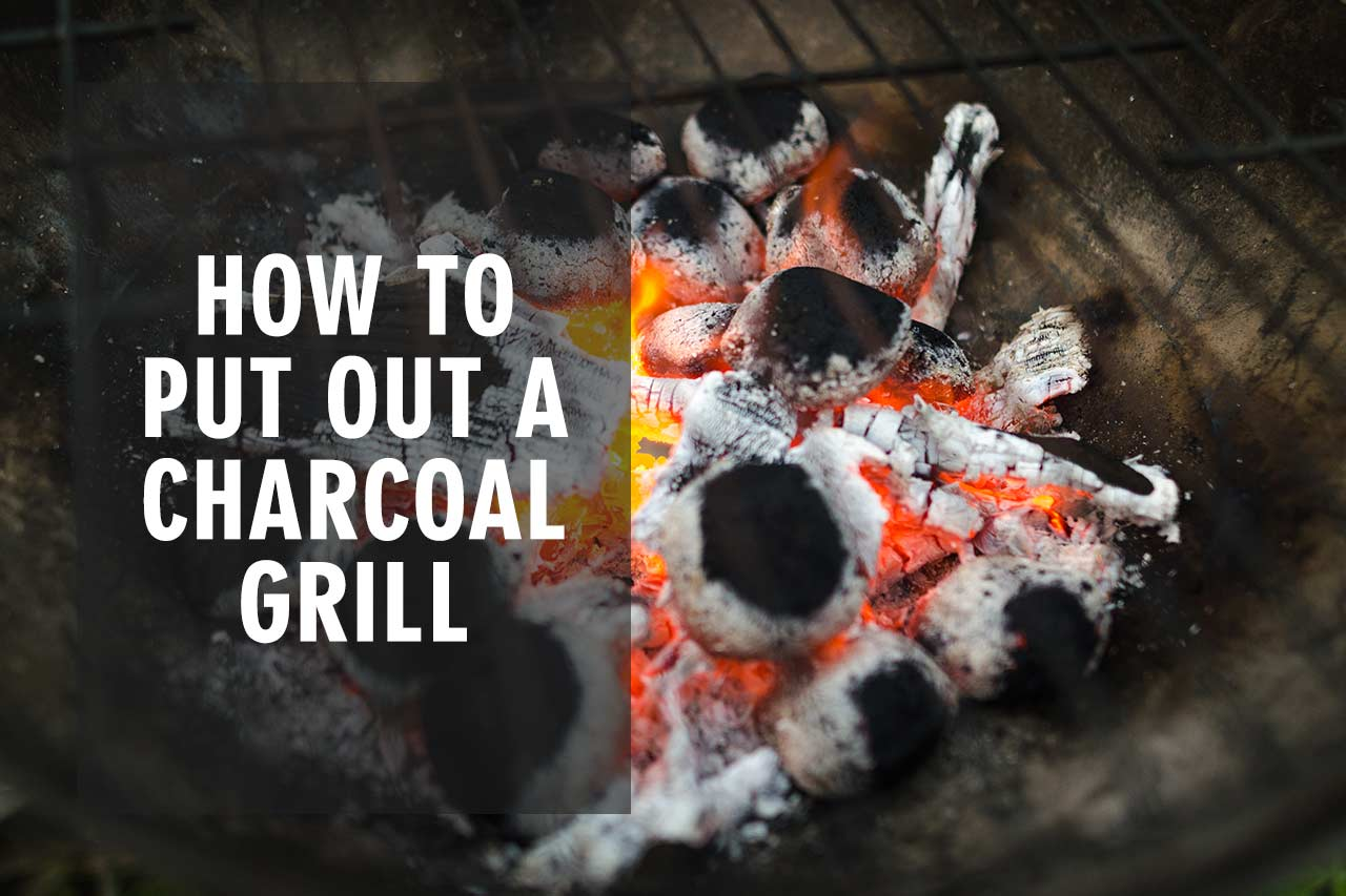 put out a charcoal grill